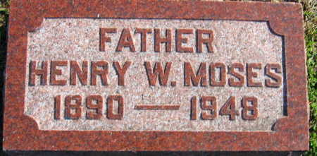 MOSES, HENRY W - Linn County, Iowa   HENRY W MOSES