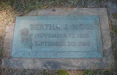 MOSS, BERTHA J. - Linn County, Iowa | BERTHA J. MOSS