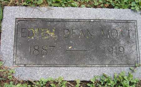 DEAN MOTT, EDITH - Linn County, Iowa | EDITH DEAN MOTT