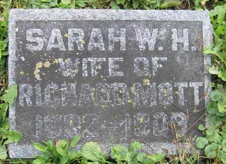 MOTT, SARAH W. H. - Linn County, Iowa   SARAH W. H. MOTT