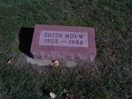 MOUW, EDITH - Linn County, Iowa | EDITH MOUW
