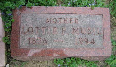 MUSIL, LOTTIE F. - Linn County, Iowa | LOTTIE F. MUSIL