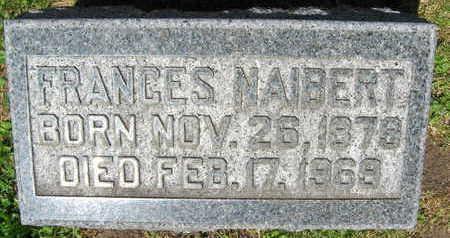 NAIBERT, FRANCES - Linn County, Iowa   FRANCES NAIBERT