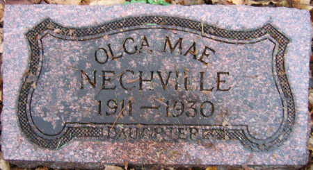 NECHVILLE, OLGA MAE - Linn County, Iowa | OLGA MAE NECHVILLE