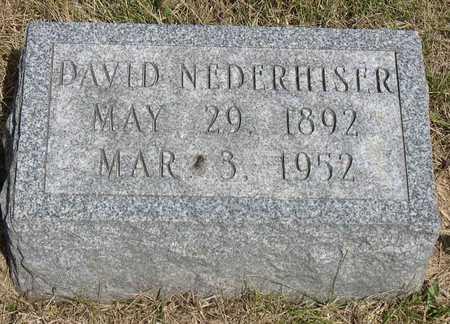 NEDERHISER, DAVID - Linn County, Iowa   DAVID NEDERHISER