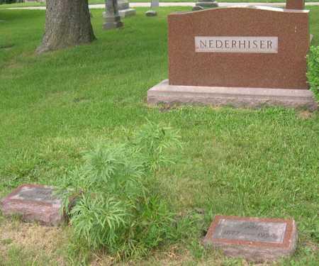 NEDERHISER, FAMILY STONE - Linn County, Iowa   FAMILY STONE NEDERHISER