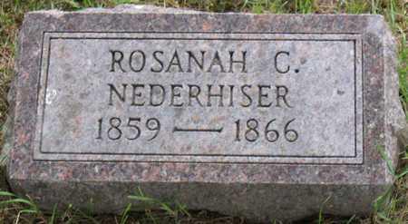 NEDERHISER, ROSANAH C. - Linn County, Iowa   ROSANAH C. NEDERHISER