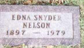 SNYDER NELSON, EDNA - Linn County, Iowa | EDNA SNYDER NELSON