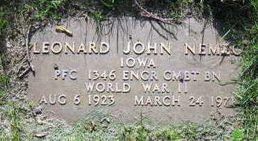 NEMEC, LEONARD JOHN - Linn County, Iowa | LEONARD JOHN NEMEC