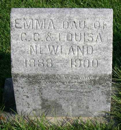 NEWLAND, EMMA - Linn County, Iowa   EMMA NEWLAND