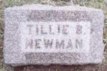 NEWMAN, TILLIE B. - Linn County, Iowa | TILLIE B. NEWMAN
