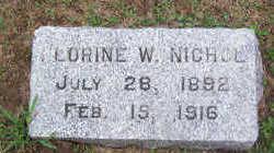 NICHOL, LORINE W. - Linn County, Iowa   LORINE W. NICHOL