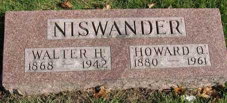 NISWANDER, WALTER H. - Linn County, Iowa   WALTER H. NISWANDER