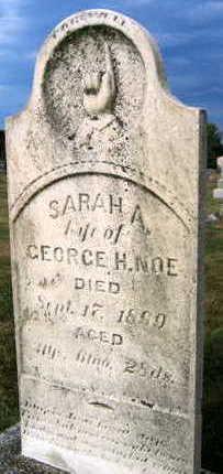 NOE, SARAH A. - Linn County, Iowa   SARAH A. NOE