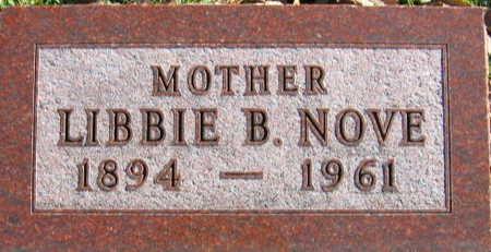 NOVE, LIBBIE B - Linn County, Iowa | LIBBIE B NOVE