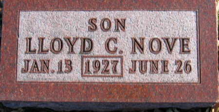 NOVE, LLOYD C - Linn County, Iowa   LLOYD C NOVE
