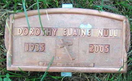 NULL, DOROTHY ELAINE - Linn County, Iowa | DOROTHY ELAINE NULL