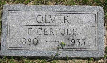 OLVER, E. GERTRUDE - Linn County, Iowa | E. GERTRUDE OLVER
