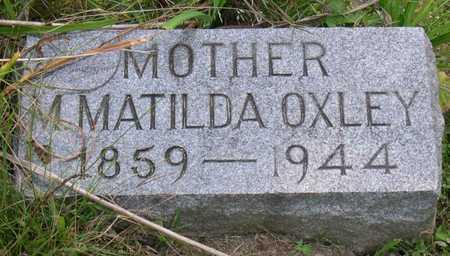 OXLEY, M. MATILDA - Linn County, Iowa | M. MATILDA OXLEY