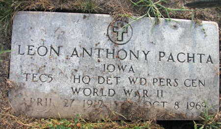 PACHTA, LEON ANTHONY - Linn County, Iowa   LEON ANTHONY PACHTA
