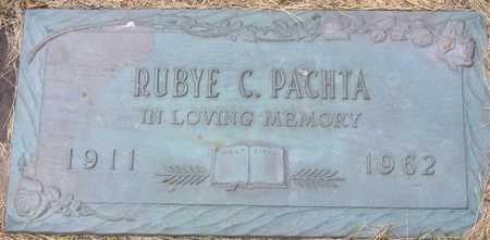 PACHTA, RUBYE E - Linn County, Iowa | RUBYE E PACHTA