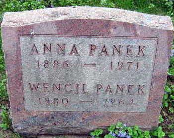 PANEK, WENCIL - Linn County, Iowa   WENCIL PANEK