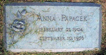 PAPACEK, ANNA - Linn County, Iowa   ANNA PAPACEK