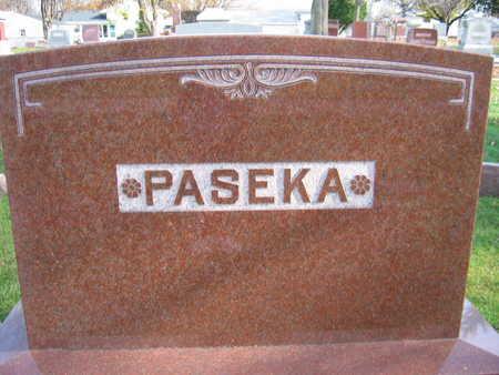 PASEKA, FAMILY STONE - Linn County, Iowa   FAMILY STONE PASEKA