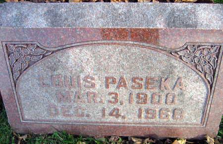 PASEKA, LOUIS - Linn County, Iowa | LOUIS PASEKA