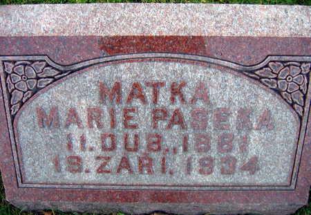 PASEKA, MARIE - Linn County, Iowa | MARIE PASEKA