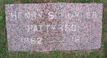 PATTERSON, HENRY SCHUYLER - Linn County, Iowa   HENRY SCHUYLER PATTERSON