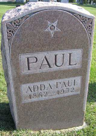 PAUL, ADDA - Linn County, Iowa   ADDA PAUL