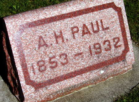 PAUL, A. H. - Linn County, Iowa | A. H. PAUL