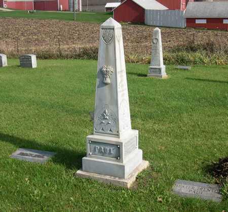 PAUL, FAMILY STONE - Linn County, Iowa   FAMILY STONE PAUL
