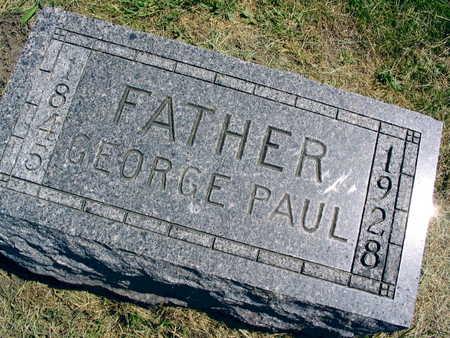 PAUL, GEORGE - Linn County, Iowa   GEORGE PAUL