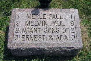 PAUL, MELVIN - Linn County, Iowa   MELVIN PAUL