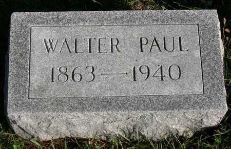 PAUL, WALTER - Linn County, Iowa   WALTER PAUL