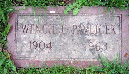 PAVLICEK, WENCIL F. - Linn County, Iowa | WENCIL F. PAVLICEK