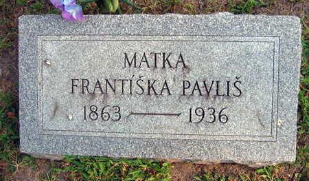 PAVLIS, FRANTISKA - Linn County, Iowa | FRANTISKA PAVLIS