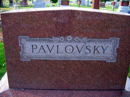 PAVLOVSKY, FAMILY STONE - Linn County, Iowa   FAMILY STONE PAVLOVSKY
