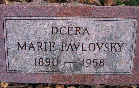 PAVLOVSKY, MARIE - Linn County, Iowa   MARIE PAVLOVSKY