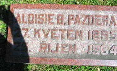 PAZDERA, ALOISIE B. - Linn County, Iowa | ALOISIE B. PAZDERA
