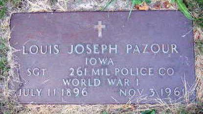 PAZOUR, LOUIS JOSEPH - Linn County, Iowa   LOUIS JOSEPH PAZOUR