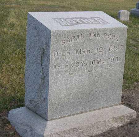 PECK, SARAH ANN - Linn County, Iowa | SARAH ANN PECK
