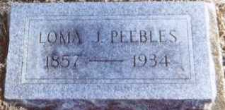 PEEBLES, LOMA J. - Linn County, Iowa | LOMA J. PEEBLES