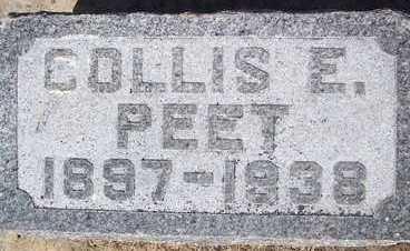 PEET, COLLIS E. - Linn County, Iowa   COLLIS E. PEET
