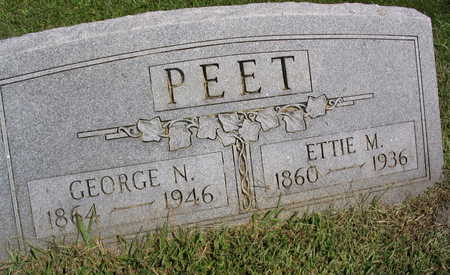 PEET, GEORGE N. - Linn County, Iowa | GEORGE N. PEET
