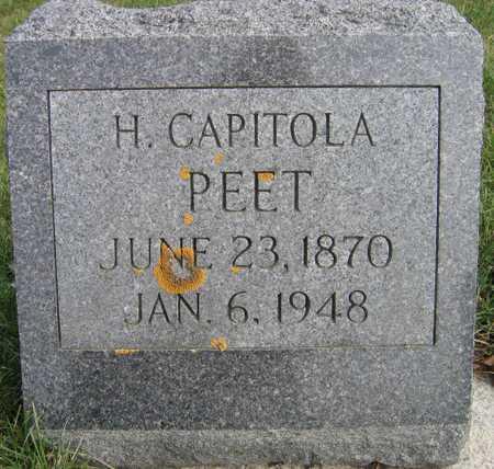 PEET, H. CAPITOLA - Linn County, Iowa | H. CAPITOLA PEET