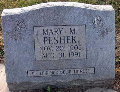 PESHEK, MARY M. - Linn County, Iowa   MARY M. PESHEK