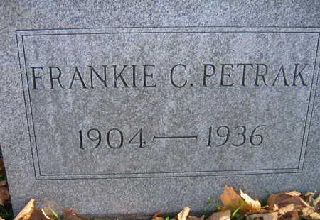 PETRAK, FRANKIE C. - Linn County, Iowa | FRANKIE C. PETRAK